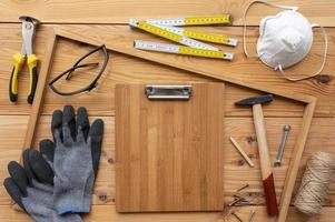 Arrangement of different artisan workshop objects photo