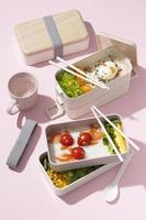 The Japanese bento box assortment photo