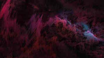 ciencia ficción nebulosa artística nube cósmica exploración de vuelos espaciales video