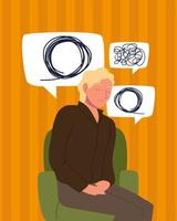 man with psychological problems vector