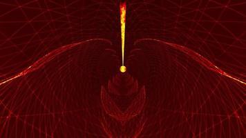 Futuristic Grid Wave Red Mesh Line Wave Loop video