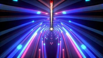Futuristic glowing flying neon lines illuminated light loop video