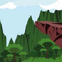 jungle vegetation, landscape vector
