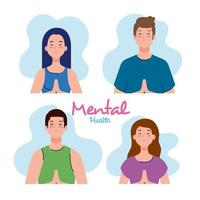 mental health concept, people with healthy mind vector
