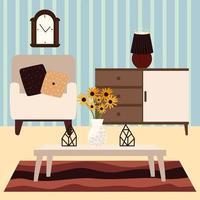 sillón y muebles para el hogar vector