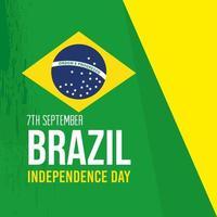 7 de septiembre, bandera de la celebración de la independencia de brasil, decoración del emblema de la bandera vector