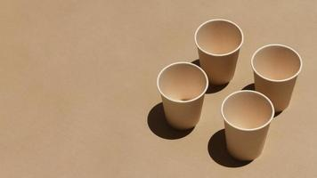 Cups assortment with copy space photo