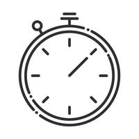 stopwatch time speed instrument line style icon vector