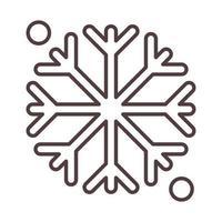 weather winter snowflake cold season line icon style vector