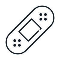 icono de línea de primeros auxilios de cura de banda médica de salud vector