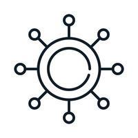coronavirus covid 19 virus health medical line icon vector