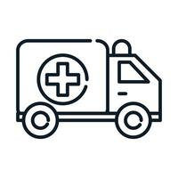 health medical transport ambulance emergency line icon vector