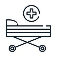 health medical stretcher equipment line icon vector