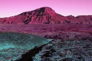The Aesthetic retro vaporwave landscape photo
