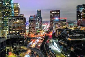 Creative aerial view cityscape.Creative complex top view photo