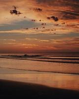 Beautiful beach sunrise photo