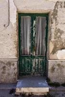 Wood and glass door photo
