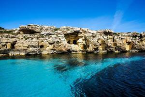 Crystal clear blue sea photo