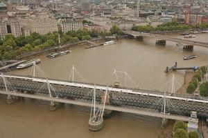Aerial view of London, UK photo