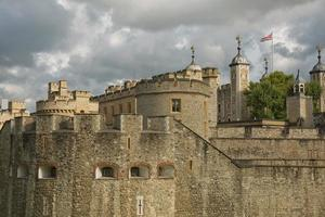 Vista de la torre de Londres, Londres, Reino Unido. foto