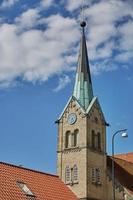 iglesia en la ciudad de fredericia en dinamarca. foto