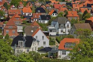 vista de la ciudad de fredericia en dinamarca. foto