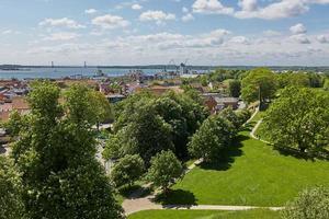 Vista de la ciudad de Fredericia en Dinamarca foto