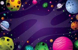 Space Background Concept vector