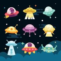UFO Icon Collection vector