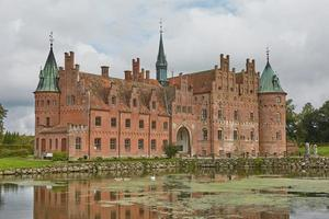 Egeskov Castle located in the south of the island of Funen in Denmark photo