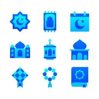 Islamic Set Icon vector