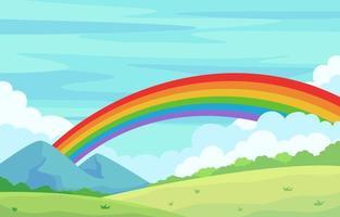 Rainbow Elements Background vector