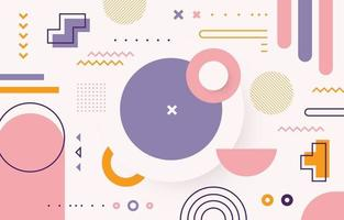 Cute Shape Geometric Abstract Background vector