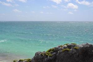 vista de la exótica playa foto