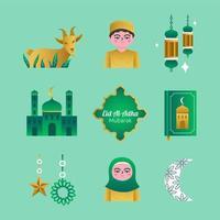 Eid Al Adha Icon Set Template vector