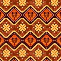 Brown Batik Pattern Background Template vector