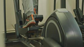 Close up Of Back of An Elliptical Machine in Use video