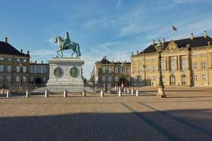 Amalienborg es la residencia de la familia real danesa en Copenhague, Dinamarca foto