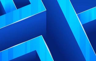 Abstract Geometric Shape Blue Background vector