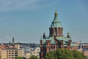 Catedral de Uspenski en Helsinki, Finlandia foto