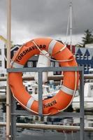 Lifering in port area of Torshavn, Faroe Islands, Denmark photo