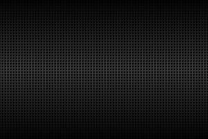 Fondo cuadrado perforado geométrico. Fondo cuadrado metálico negro abstracto. textura de carbono. ilustración vectorial simple vector