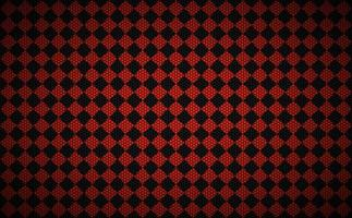 Red abstract squares background with metal hexagonal mesh. The look of stainless steel. Vector illustration
