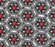 Floral oriental seamless ornament. Ornamental tile pattern with flower bloom in traditional eastern  asian style vector