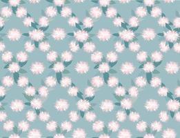 Floral seamless pattern. Flower chrysanthemum ornamental eastern texture. Wihte flower garden background. vector
