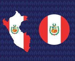 America Latine 2020 teams.America Latine soccer final.Peru map vector