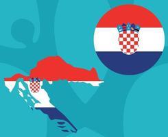 European football 2020 teams.European soccer final.Croatia map vector