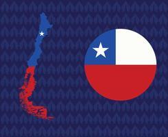 America Latine 2020 teams.America Latine soccer final.Chile map vector