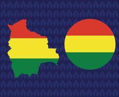 America Latine 2020 teams.America Latine soccer final.Bolivia map vector