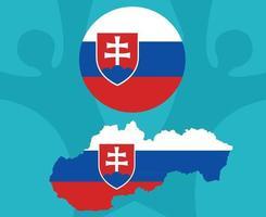 European football 2020 teams.European soccer final.Slovakia map vector